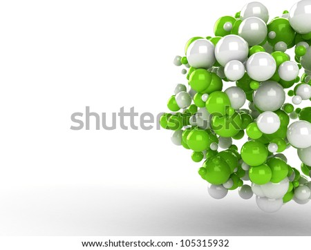 Abstract molecules 3d render