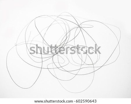 Abstract monochrome background. Tangled wire isolated on white background.