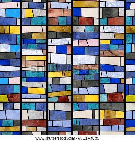 Abstract mosaic (glass).High-resolution seamless texture #691143085