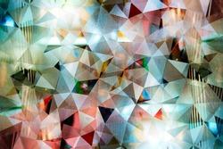 Abstract mosaic : night pattern style