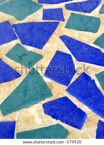 abstract mosaic tiles vertical