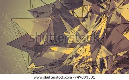 Abstract Mosaic Vintage Polygonal.
