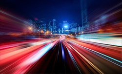 Abstract Motion Blur City