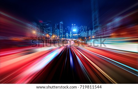 Abstract Motion Blur City #719811544