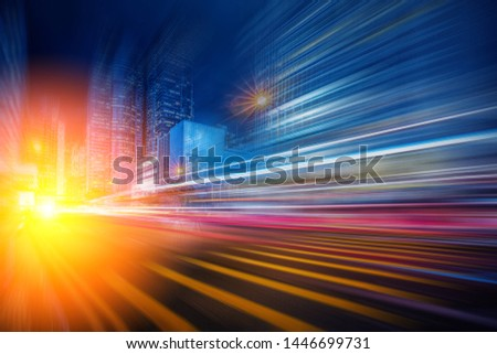 Abstract Motion Blur City for background #1446699731