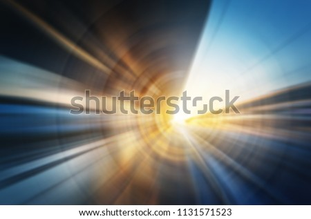 Abstract motion blur image of Venice city rail station. Concept blur backround on transport, business, industry, travel topic.