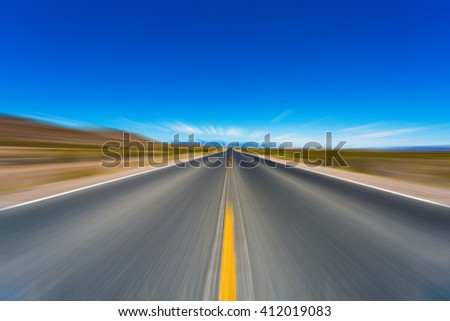 Abstract Motion blurred road #412019083