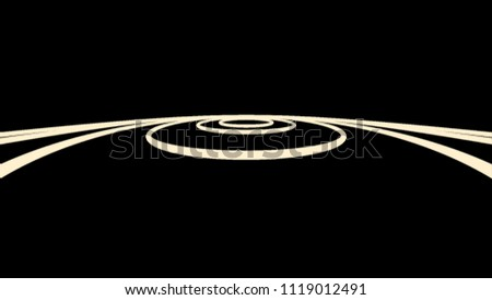 Stock Photo Abstract motion graphics with colored spiral. Parametric motion. Abstract futuristic space background. Fantastic video animation with stripe wave object in motion
