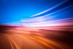 Abstract motion speed effect on city
