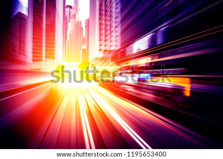 Abstract motion speed in city background #1195653400