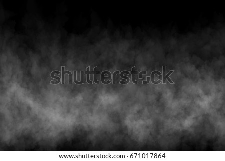 Abstract Movement of smoke or fog on black background