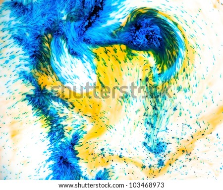 Abstract multicolor background with blurred colors (dye in milk)