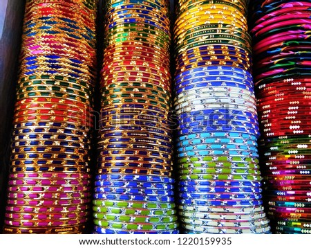 Background of colorful indian bangles Images and Stock