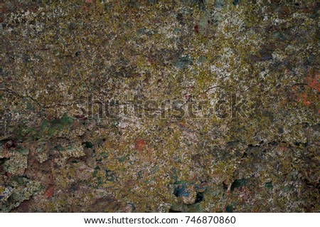 Abstract multicolor grunge background with abstract colored texture. Various color pattern elements. Old  vintage scratches, stain, paint splats, brush strokes, dots, spots. Weathered wall backdrop #746870860