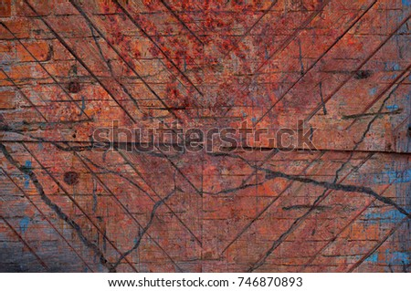 Abstract multicolor grunge background with abstract colored texture. Various color pattern elements. Old  vintage scratches, stain, paint splats, brush strokes, dots, spots. Weathered wall backdrop #746870893