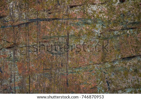 Abstract multicolor grunge background with abstract colored texture. Various color pattern elements. Old  vintage scratches, stain, paint splats, brush strokes, dots, spots. Weathered wall backdrop #746870953