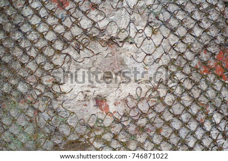 Abstract multicolor grunge background with abstract colored texture. Various color pattern elements. Old  vintage scratches, stain, paint splats, brush strokes, dots, spots. Weathered wall backdrop #746871022