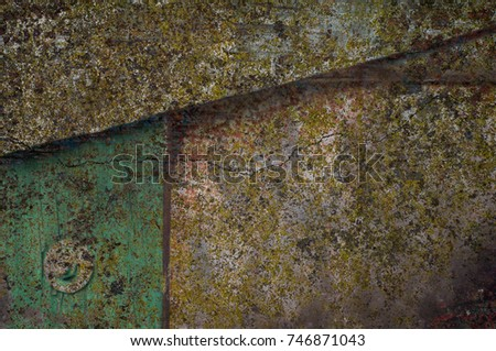 Abstract multicolor grunge background with abstract colored texture. Various color pattern elements. Old  vintage scratches, stain, paint splats, brush strokes, dots, spots. Weathered wall backdrop #746871043