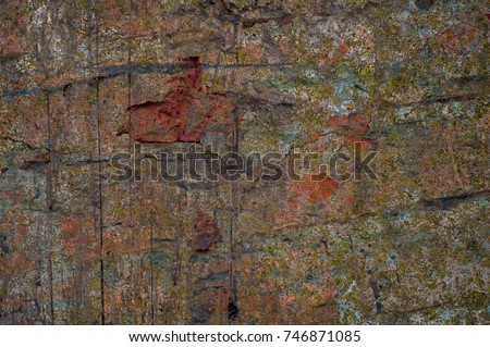 Abstract multicolor grunge background with abstract colored texture. Various color pattern elements. Old  vintage scratches, stain, paint splats, brush strokes, dots, spots. Weathered wall backdrop #746871085