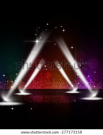 abstract multicolor music disco party events stage spotlights