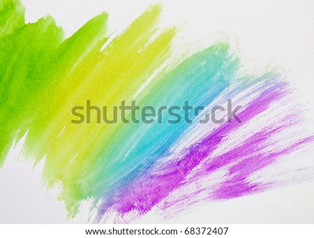 Abstract multicolor watercolor hand painted background