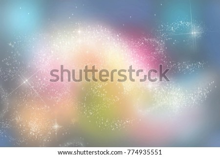 Abstract multicolored background with light, stars #774935551