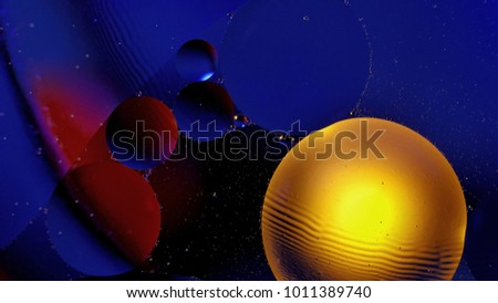 Abstract multicolored circles background. #1011389740