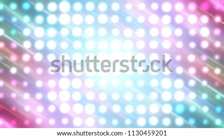 Abstract multicolored football or soccer backgrounds. Beautiful artistic flood lights. illustration digital.