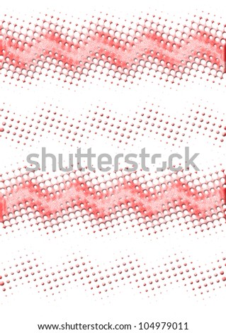 Abstract multicolored modern red tech wave background