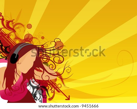 music background wallpaper. stock photo : Abstract music