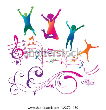 free music abstract background by vector background author go to ...