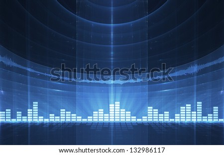 Abstract music equalizer background - perfect for flyers, brochures, posters