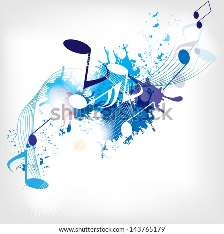 abstract musical background with notes