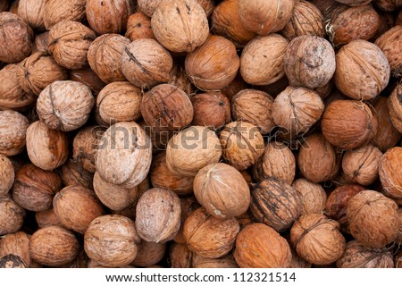 abstract natural background with Circassian walnuts