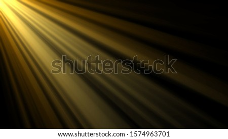 Abstract natural gold lens flare with shining light