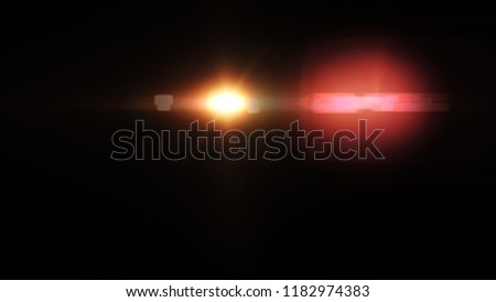 Abstract Natural lens flare with black background. #1182974383
