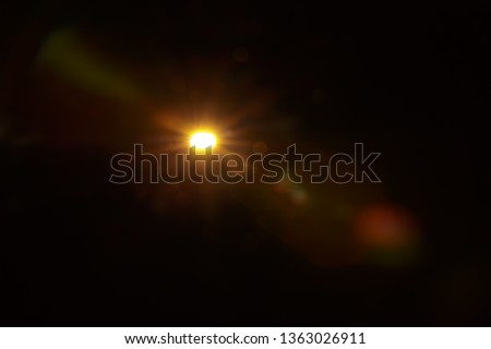 Abstract Natural Sun flare on the black #1363026911
