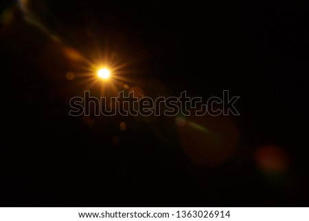 Abstract Natural Sun flare on the black #1363026914