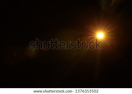 Abstract Natural Sun flare on the black #1376353502
