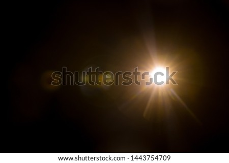 Abstract Natural Sun flare on the black #1443754709
