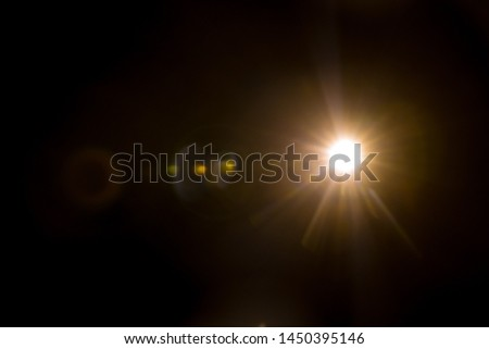 Abstract Natural Sun flare on the black #1450395146