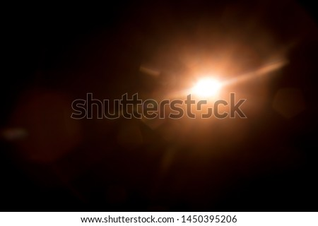 Abstract Natural Sun flare on the black #1450395206