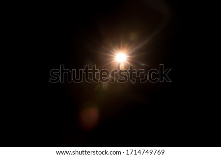 Abstract Natural Sun flare on the black Сток-фото ©