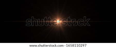 Abstract Natural Sun flare on the black background, flare light transition, effects sunlight, lens flare