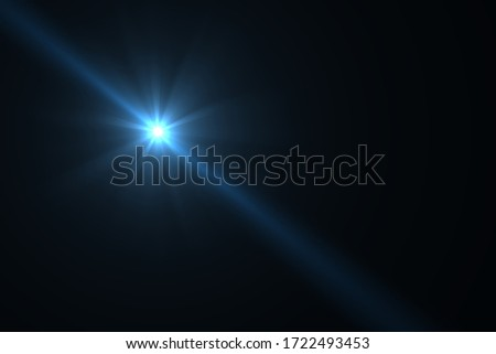 Abstract Natural Sun flare on the black background, flare light transition, effects sunlight, lens flare Сток-фото ©
