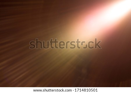 Photo of  Abstract Natural Sun flare on the black - image
