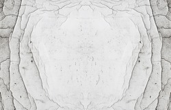 Abstract natural symmetrical scratched white copy space frames