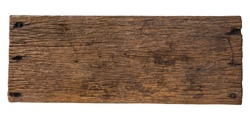 Abstract Natural wood table texture isolated on white background : Top view of plank wood for graphic stand product, interior design or montage display your product