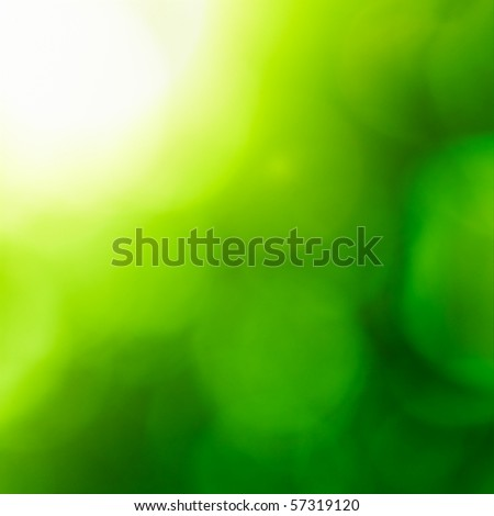 Abstract nature background (green bokeh).