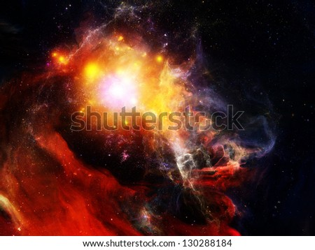 Abstract nebulous composition on the subject of cosmos, space and universe